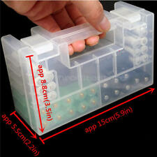 AA AAA Battery Cases - Safe Storage Holder Rechargeable Batteries Hard Case