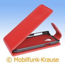 Flip Case Etui Handytasche Tasche Hülle f. Samsung Galaxy S 4 Mini LTE (Rot)