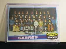1979-80 BUFFALO SABRES TEAM PHOTO TOPPS 5X7 WITH TOP LOADER
