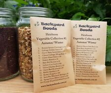HEIRLOOM Vegetable & Herb Seeds: Collection #1 and #2 Autumn/Winter, 30 Packs
