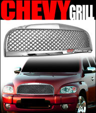 For 2006-2011 Chevy Hhr Chrome Luxury Mesh Front Upper Bumper Grill Grille Abs
