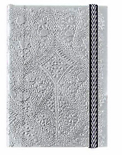 Parisian Couture Christian Lacroix Silver A6 Embossed Paseo Luxury Notebook