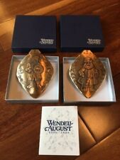 Wendell August Bronze Santas of The World Ornaments