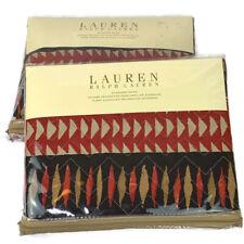 Ralph Lauren Heritage Batik Quilted Standard 100% Cotton Pillow Sham Cover Set