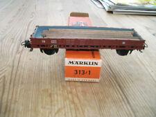 MÄRKLIN   313 / 1  H0   Niederbordwagen - Güterwagen - OVP!