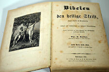 Antique 1847 Illustrated Religious German Bible Adam Eve Prints Pentateuch