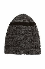 True Religion Men's Short Knit Cuff Beanie in Black