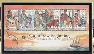 New Zealand: 1998 A New Beginning Special M/sheet.Millennium Part 2.MUH. Scarce