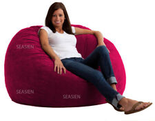 1 PC Magenta Velvet Bean Bag Cover Fully Washable (Without Beans) Free Shipping