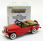 Brooklin Models 1/43 Scale BRK161 - 1948 Willys Overland Jeepster - Red/Black