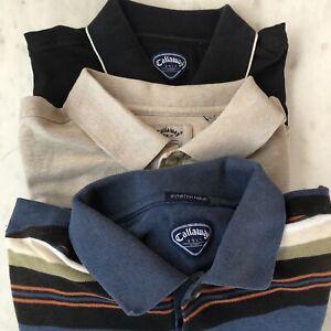 Callaway Golf Polo Shirt size XL Mens Lot of three 3 Short Sleeve
