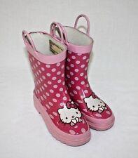 Hello Kitty Girls Pink Rubber Steel Shank Rain Boots Size 11/12