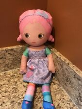 "Zapf Plush 15"" Mooshka Soft Singing Niva Doll Pink Hair & Brown Eyes"