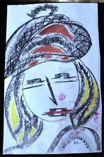 Art Deco künstlerische Malereien von 1950-1999 - Papier