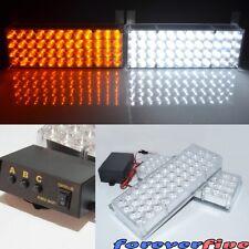Amber White 96 LED Strobe Flashing Bumper Windshield Emergency Hazard Light