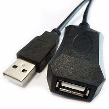 Usb 2.0 Macho-hembra A-a Negro Activo extensión Cable 5m