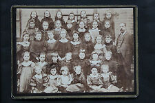 SUPERB ORIGINAL PHOTOGRAPH CHADDESDEN SCHOOL GROUP c1900 DERBY DERBYSHIRE