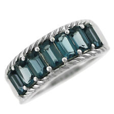 London Blue Topaz 2.45 Ct. Gemstone Octagon 925 Sterling Silver Ring for Women