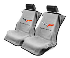 Seat Armour Universal Grey Towel Front Seat Covers for Corvette C6 -Pair