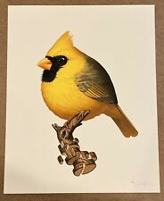 Mike Mitchell Fat Bird Yellow Cardinal Mondo Limited #/35 Art Print Poster