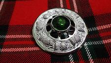 TC Kilt FLY Plaid SPILLA DESIGN CARDO Verde Pietra Finitura Argento/Celtic