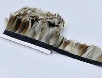 Natural Mallard Duck 5-7cm Feather Fringe Ribbon Trim Price for 30cm DIY Craft