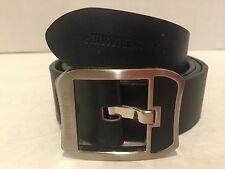 Neckermann Leather Belt 100% Leather Black Belt 48/120