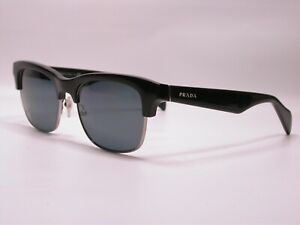 Authentic Prada Gloss Black Luxury Fashion Sunglasses Frames Made in Italy