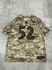 Nike Baltimore Ravens Ray Lewis Camo Salute To Service Limited Jersey Size XXL