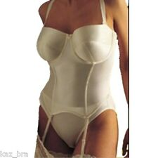 New Ivory Panache Basque 36FF Underwired Strapless Special Occasions Bridal