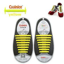 Easy No Tie Elastic Shoe Lace 100%25 Silicone Trainers Shoes Adult Kids Shoelaces