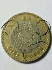 moneda de 10 pesos con error de troquel 1998 km#616