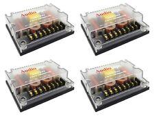 4 Pack 4 Ohm 3 Way Crossover 300 Watts Passive Car Audio Tweeter CRX-303