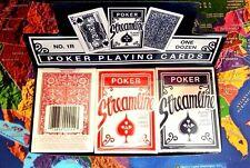 STREAMLINE POKER SIZE PLAYING CARDS 12-DECKS (6 RED, 6 BLUE)
