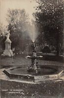 Ohio Postcard Real Photo RPPC 1911 GREENFIELD Fountain in Cemetery Monument