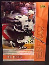 MARK MESSIER 1998-99 Topps Hockey Mystery Finest REFRACTOR Bronze SP #19 CANUCKS
