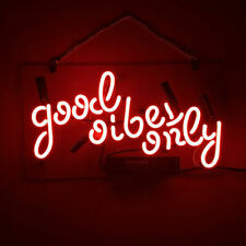 "New Good Vibes Only Red Neon Light Sign 14"" Lamp Beer Pub Acrylic Handmade"