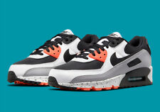 Nike Air Max 90 Running Shoes White Black Turf Orange DC9845-100 Men's NEW