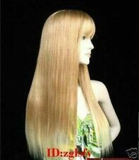 sexy charming long blonde mixed  straight hair health wig wigs for women