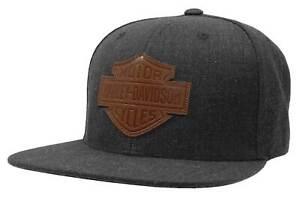 Harley-Davidson Men's Bar & Shield Patch Snapback Baseball Cap - Heather Gray