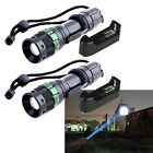 2X 4000 Lumen Zoomable CREE XM-L T6 LED Flashlight Torch Zoom Lamp Light+Charger