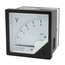 1Pcs 6C2 Rectangle Plastic Analog Voltmeter Voltage Meter DC 0-5V