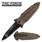 "Tac Force Cobra Linerlock Tf-796Bn Black Partially Serrated Folding Knife 4 3/4"""