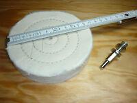 Glanz  Polierscheibe  Baumwolle 125mm für Bohrmaschine Polier-Aufsatz