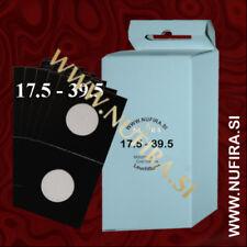 Leuchtturm Coin Holders Self-adhesive BLACK (50x50mm) 17.5-39 mm (10x)