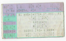 MEGADETH Ticket CONCERT Tour STUB Strand Providence Rhode Island METAL Music