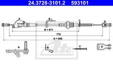 Seilzug, Kupplungsbetätigung für Kupplung ATE 24.3728-3101.2