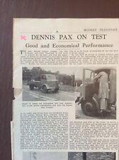 B9g Ephemera 1940s Article Dennis Pax 5 Tonner On Test