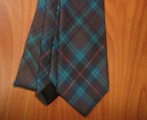 Brooks Brothers Plaid Check Print 100% Pure Wool Hand Made Tie ~NEW~ Made In USA