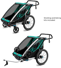 Thule Chariot Lite Sport Stroller, Double, Blue Grass/ Black *